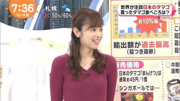 小ぶりでも形の良さそうなニットおっぱいも可愛い久慈暁子!! (4)