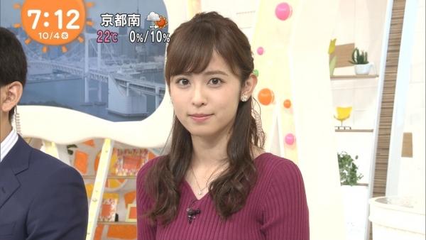 小ぶりでも形の良さそうなニットおっぱいも可愛い久慈暁子!! (11)
