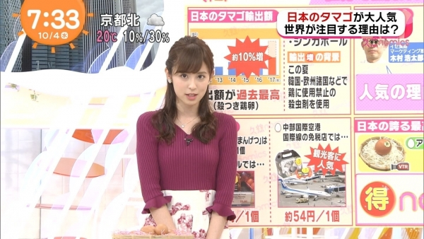 小ぶりでも形の良さそうなニットおっぱいも可愛い久慈暁子!! (16)