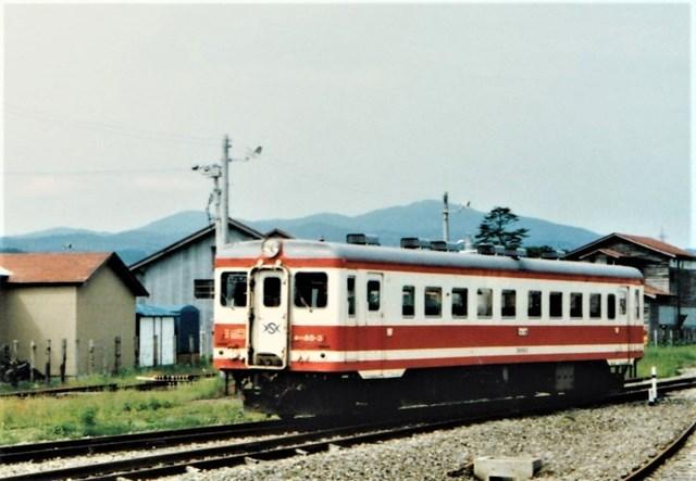 ⑤大畑駅構内列車
