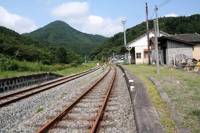 ⑯長安寺駅線路