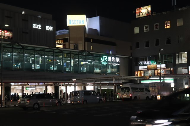 ⑤夜の浦和駅