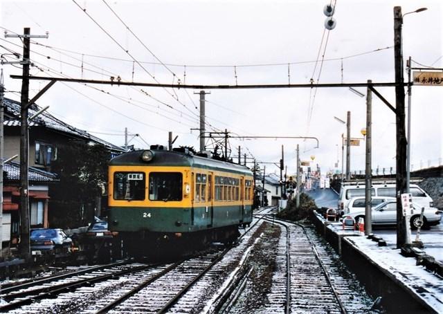 ⑬白根上り電車発車