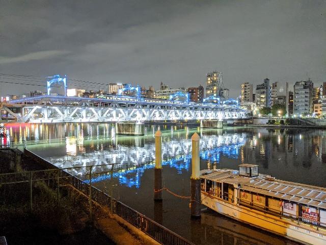 東武伊勢崎線の鉄橋