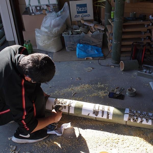 600竹灯り 誰にでもできる作品の作り方2