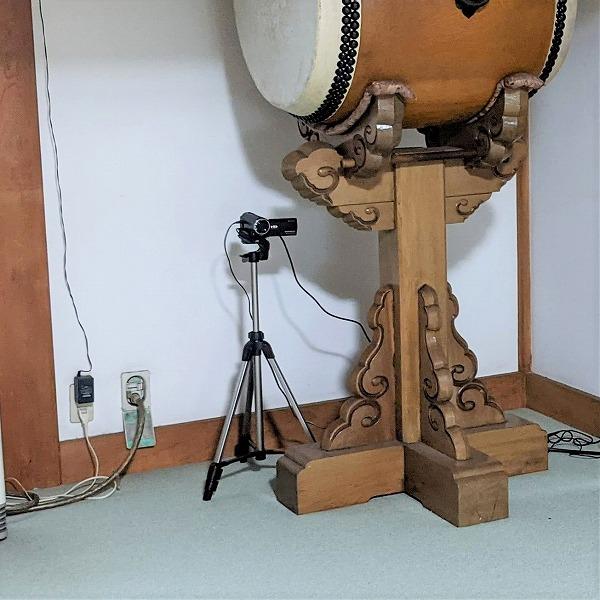 600オンライン坐禅会でビデオカメラ