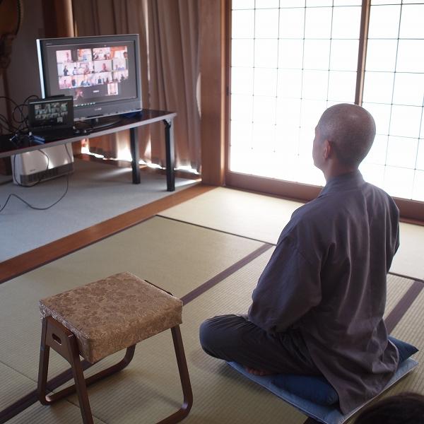 600オンライン坐禅会 会場図 初めてのオンライン坐禅会モニター2