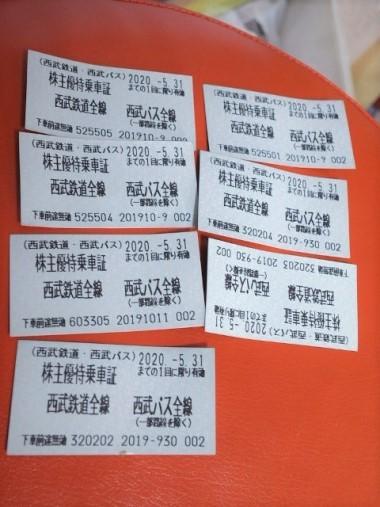 1西武株主優待券大量購入0422 (2)