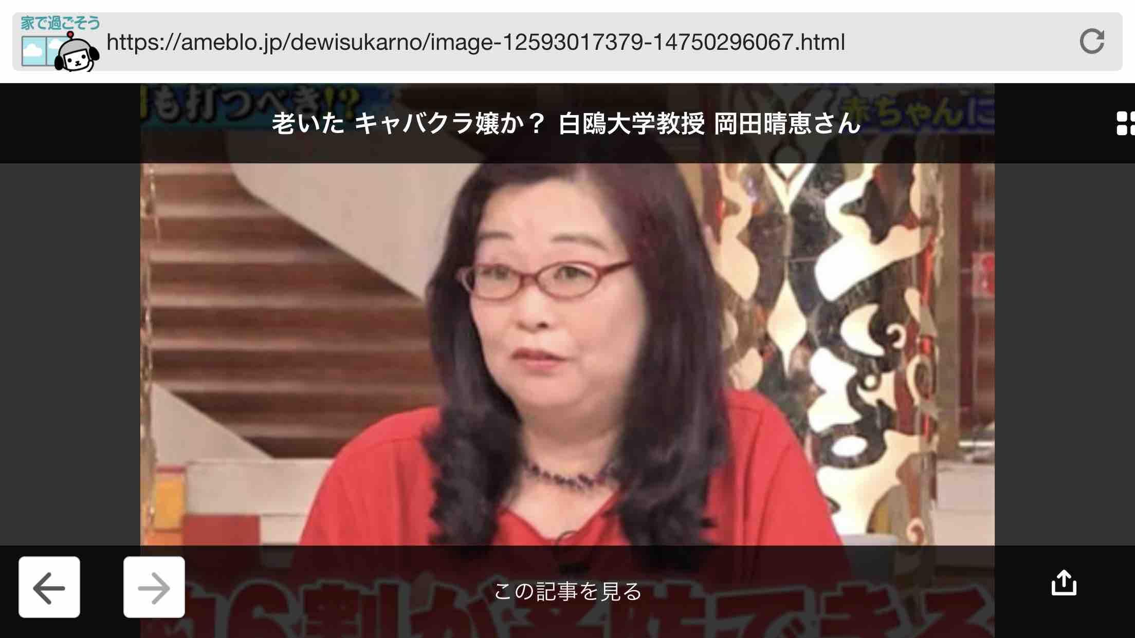 岡田 晴恵 教授