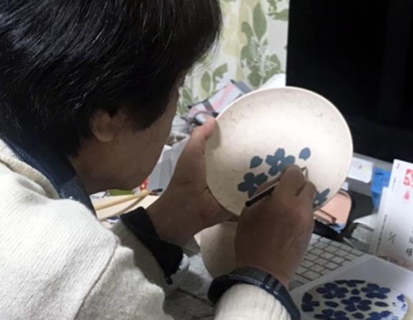 21:1桜紋中皿A-4