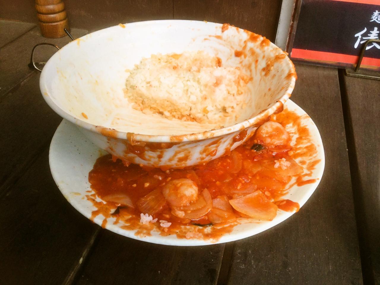 俵飯(海老チリと卵とキクラゲ炒め)