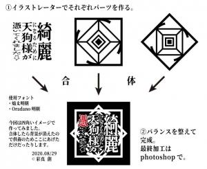 天狗様ロゴ_メイキング