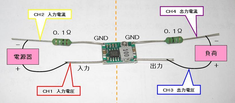 DCDCバックコンバータの変換効率(MP2307)測定図