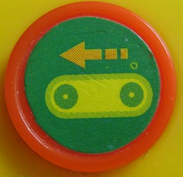 アンパンマンブルドーザ(3つボタン+車軸)走行