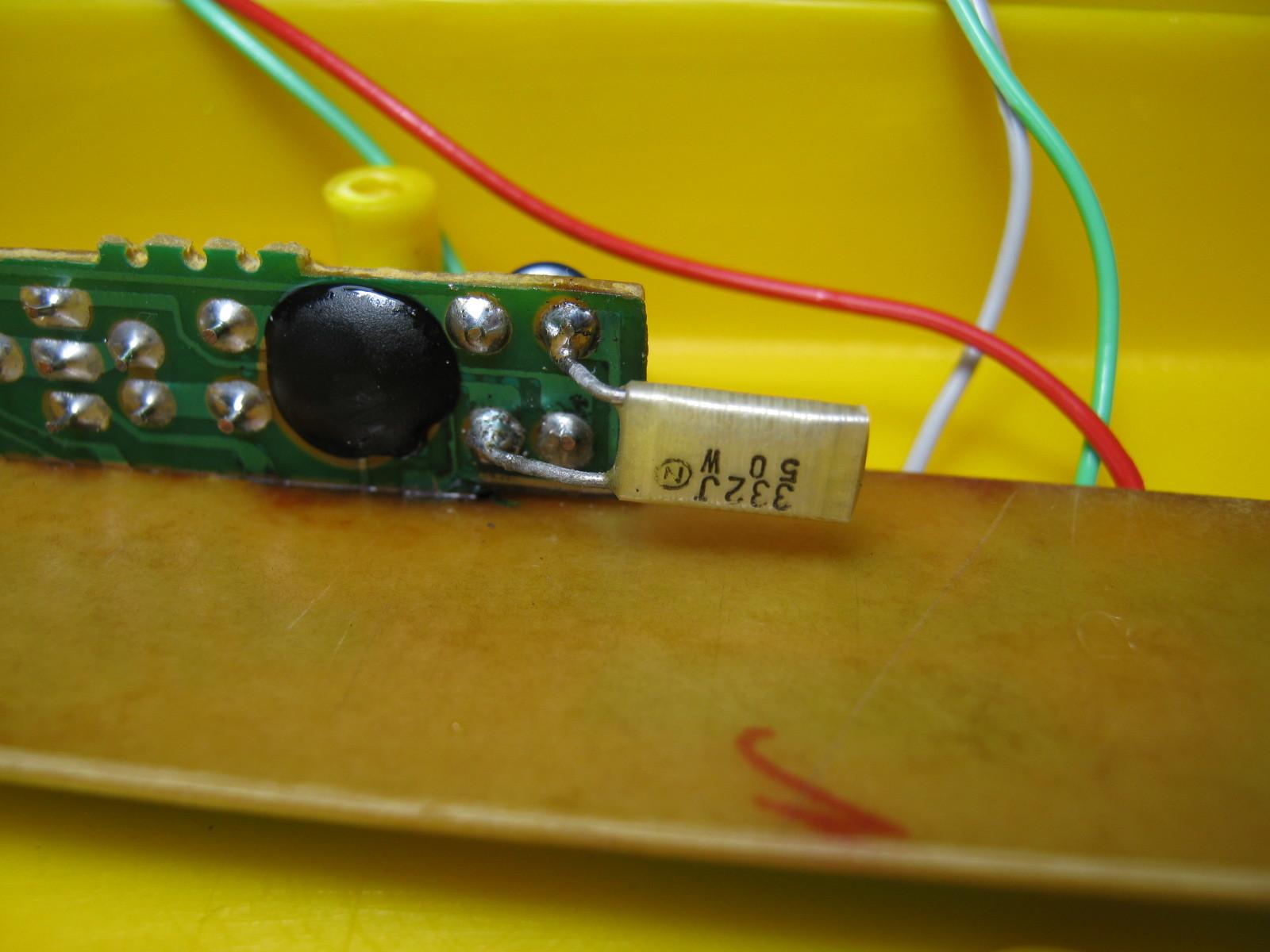 歩行器の鳴り物(マンテン)(COB不良)オシレータC追加