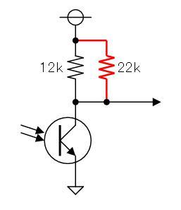 スバルレヴォーグ三山(フォトリフレクタ回路調整)調整後回路図