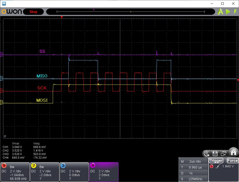 PIC電子オルゴールVer6_3のリリース(2線SPIのサポート)波形4線SPI(1572)