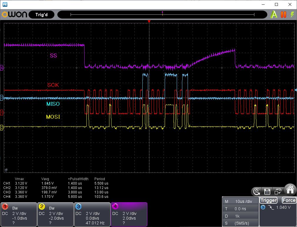 PIC電子オルゴールVer6_3のリリース(2線SPIのサポート)RC522波形1