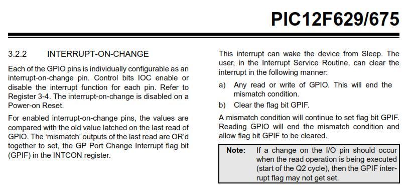 PIC電子オルゴールVer6_3のバグ改修(IOC設定関連)12F629IOC