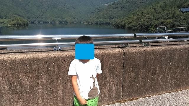 200817 早明浦ダムにて① ブログ用目隠し