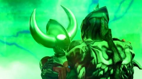 ウルトラコクーンでウルトラマンベリアル アトロシアスを封じ込めるウルトラの父