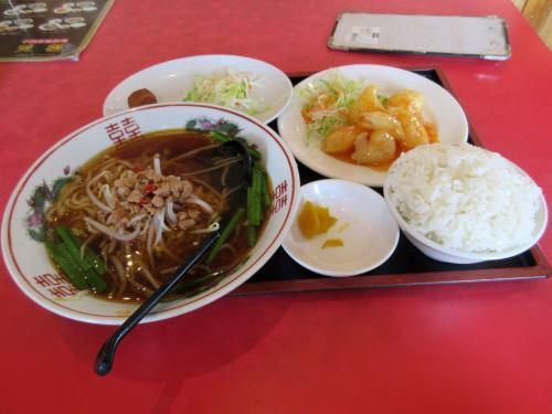 おすすめランチのエビマヨで台湾ラーメン
