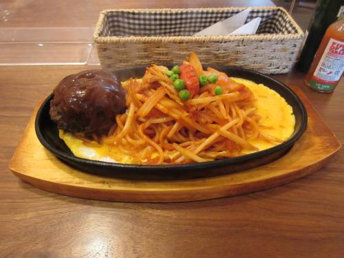 イタリアンスパゲティー+ハンバーグ