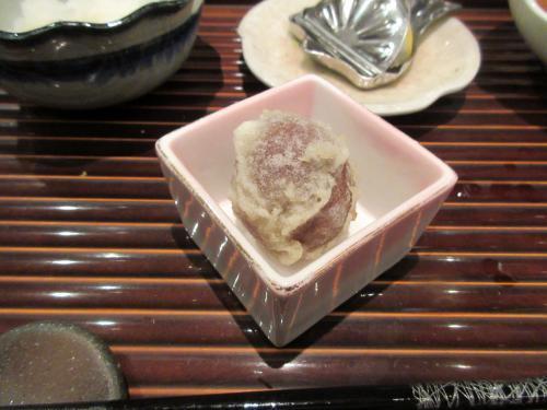 口直しに梅の天ぷら
