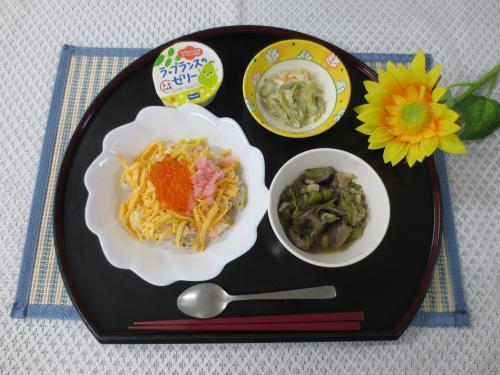 鮭とイクラの親子散らし寿司