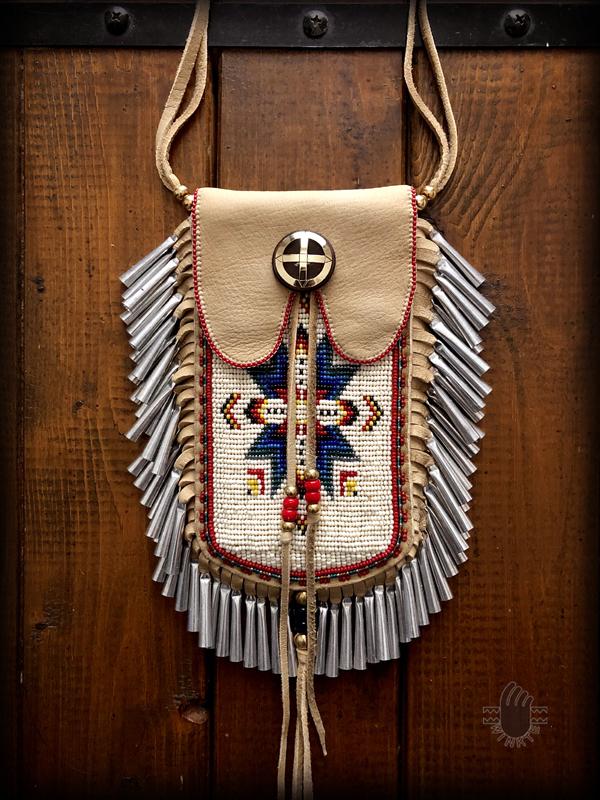 Beaded Smartphone Pouch (Lakota Star i-phone 8 ver) 1 logo ver