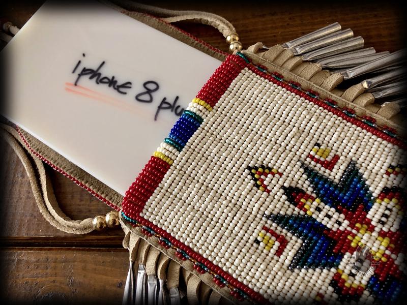Beaded Smartphone Pouch (Lakota Star i-phone 8 ver) 4 logo ver