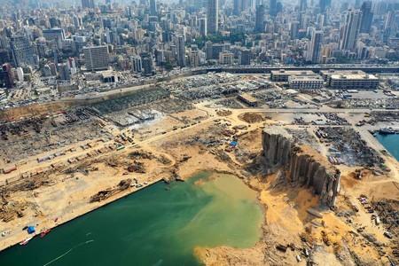 レバノン爆心地クレーター