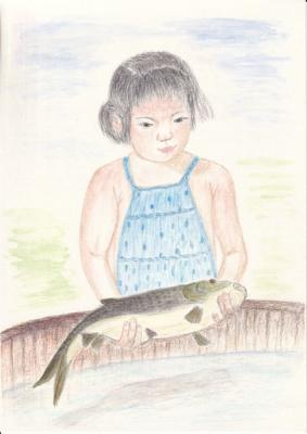 鯉色鉛筆画